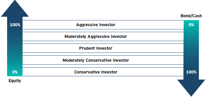 Your preference provides guidance as to the proportion of equities, bonds and cash you should hold in your pension portfolio:
